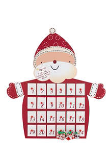 NONE Wooden Santa advent calendar