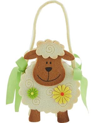 MOPEC Felt sheep bag with chocolate pralines 40g