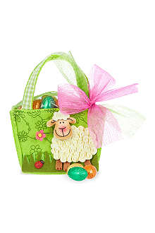 Felt sheep bag with chocolate eggs 55g