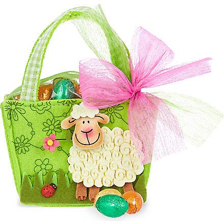 Felt sheep bag with chocolate eggs 55g