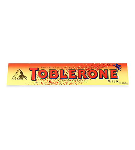 TOBLERONE Valentines Milk chocolate bar 400g