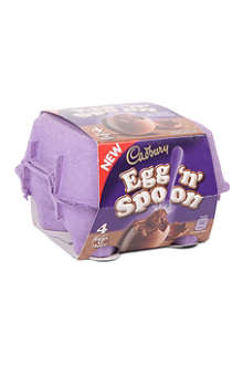 CADBURY Egg'n'Spoon double chocolate mousse 136g