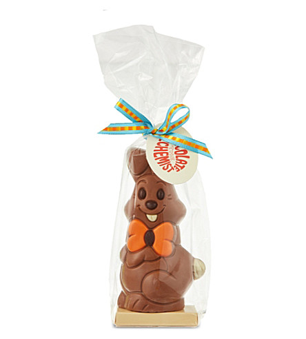Milk chocolate bunny with bow tie 100g