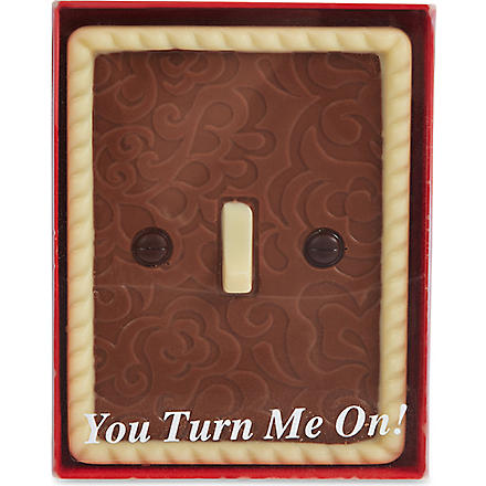 'You turn me on' chocolate light switch 85g