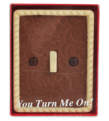 VALENTINES 'You turn me on' chocolate light switch 85g