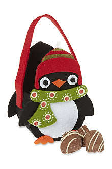 Felt penguin gift bag