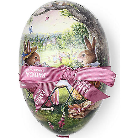 FARGA Praline Chocolate Easter egg tin 15cm