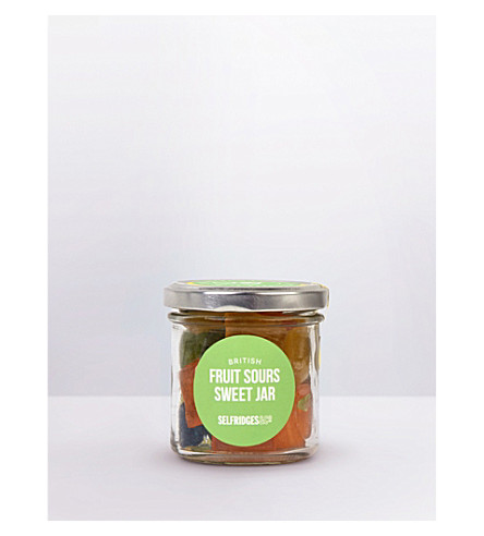 SELFRIDGES SELECTION British fruit sours sweet jar