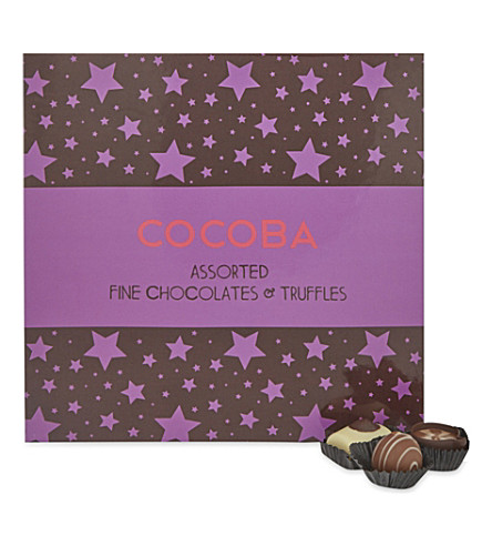 COCOBA Assorted fine chocolates and truffles gift box 350g