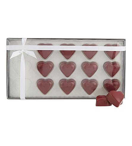 THE CHOCOLATE SOCIETY Gjanduja honeycomb hearts 165g
