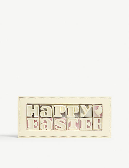 Easter foodhall selfridges shop online choc on choc happy easter dark and white chocolate 140g negle Image collections