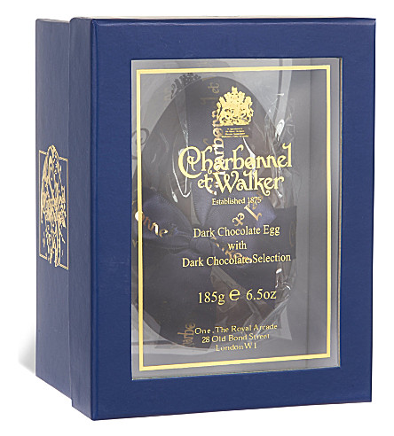 CHARBONNEL ET WALKER Dark chocolate egg with dark chocolate selection 185g