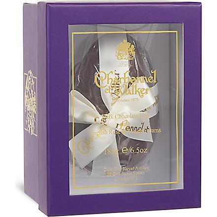 CHARBONNEL ET WALKER Dark chocolate egg with English Rose & violet Creams 185g