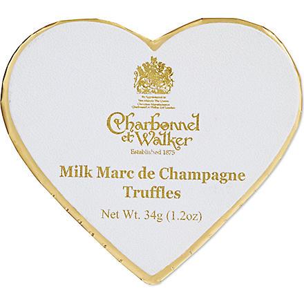 CHARBONNEL ET WALKER Milk Marc de Champgne truffles 34g