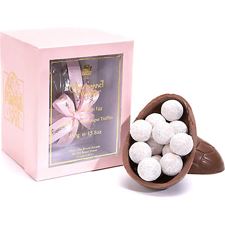 CHARBONNEL ET WALKER Pink Champagne truffle chocolate egg 450g