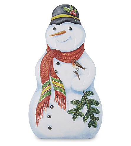 CHURCHILL'S Chocolate buttons snowman tin 200g