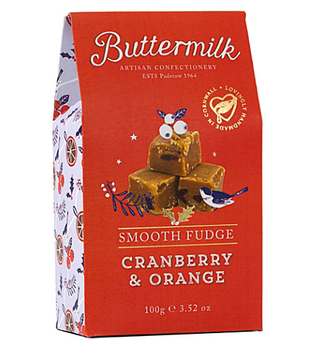 BUTTERMILK Cranberry & orange fudge 100g