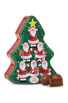 Christmas tree tin of chocolates