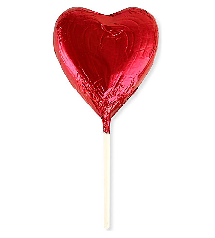 Love Heart chocolate lolly 26g