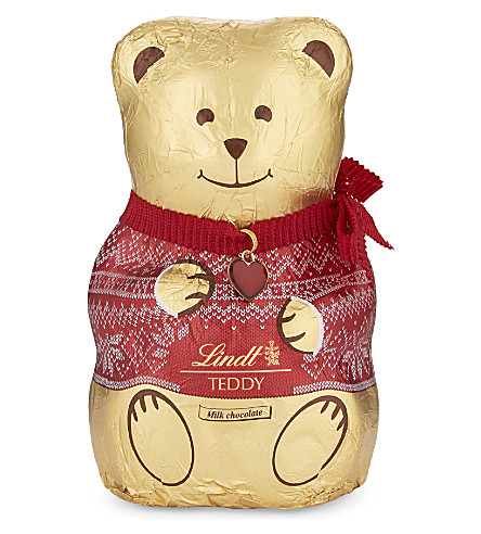 LINDT Festive jumper chocolate teddy 200g