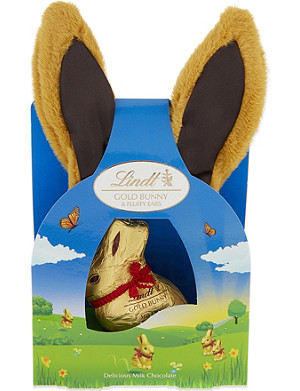 LINDT Gold Bunny milk chocolate with Easter fluffy ears 50g