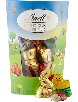 LINDT Gold Bunny and Friends sharing pack 182g