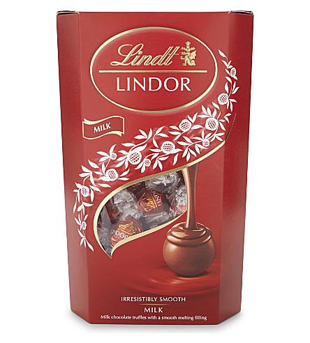 LINDT Lindor milk chocolate truffles 600g