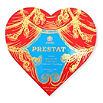 PRESTAT Theatre Heart red velvet truffle box