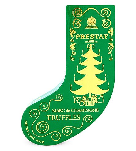 PRESTAT Marc de Champagne truffle stocking 42g
