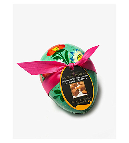 BOOJA BOOJA Almond sea salt caramel truffles small egg