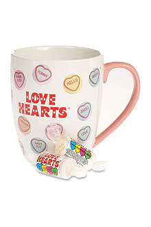 WHAT NEXT CANDY Love Hearts mug
