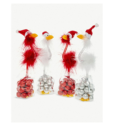 CANDY HOUSE Christmas bird pen & milk chocolates 112g