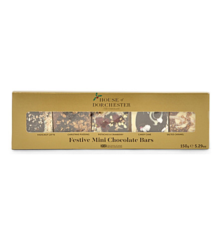 HOUSE OF DORCHESTER Festive Mini Chocolate Bars