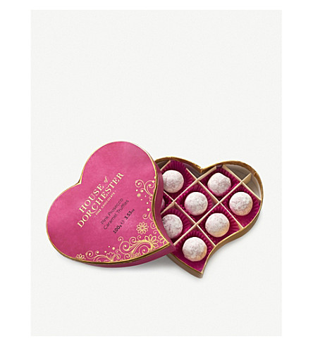 HOUSE OF DORCHESTER Pink Marc de Champagne Sparkle truffles 100g
