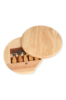 NATURA Gourmet cheese board with knives