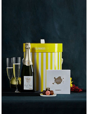 SELFRIDGES SELECTION Champagne and Chocolates hat box