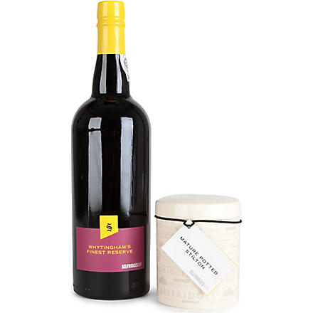 SELFRIDGES SELECTION Port & Stilton giftbox