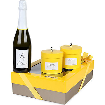 SELFRIDGES SELECTION Italian Prosecco & Panettone giftbox