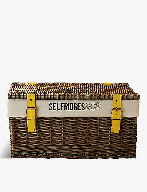SELFRIDGES SELECTION Wicker hamper basket 48.5cm