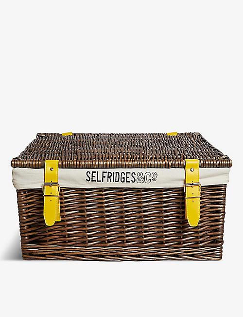 SELFRIDGES SELECTION Wicker hamper basket 60cm