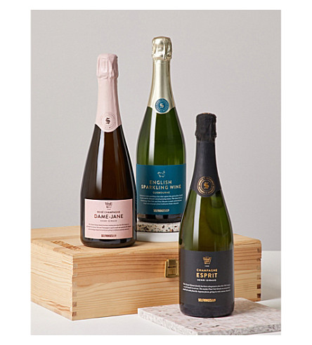 SELFRIDGES SELECTION My Fizzy Valentine's Sparkling Trio Celebration Hamper