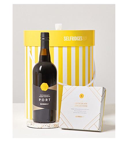 SELFRIDGES SELECTION Port & Chocolates Gift Box
