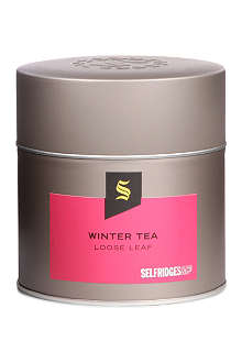 SELFRIDGES SELECTION Winter Tea loose leaf tea tin 125g