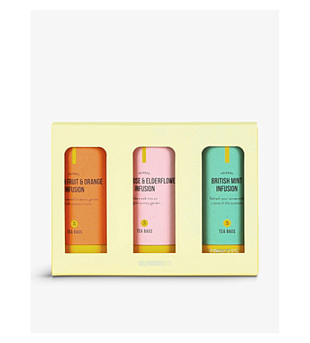 SELFRIDGES SELECTION Fruit and herbal tea trio 168g