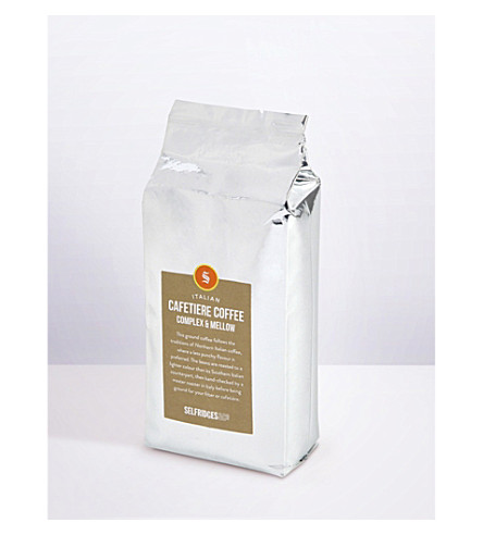 SELFRIDGES SELECTION Italian Cafetiere Complex & Mellow ground coffee refill