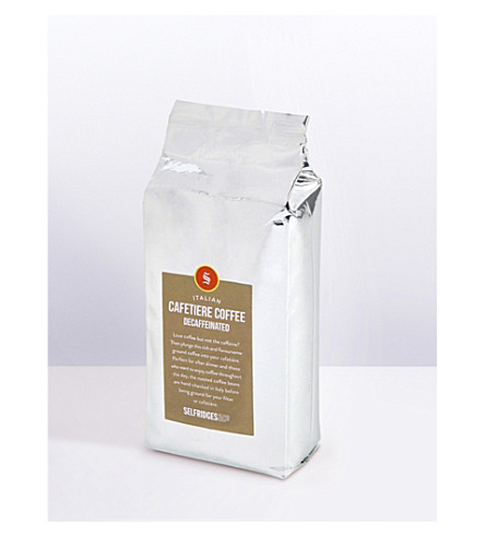 SELFRIDGES SELECTION Italian Cafetiere Decaffeinated ground coffee refill