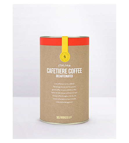 SELFRIDGES SELECTION Italian decaffeinated coffee carton