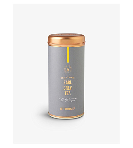 SELFRIDGES SELECTION Earl Grey teabags gift tin