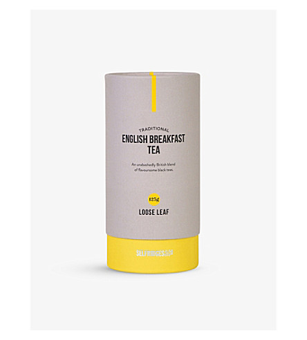 SELFRIDGES SELECTION English Breakfast loose leaf tea 125g