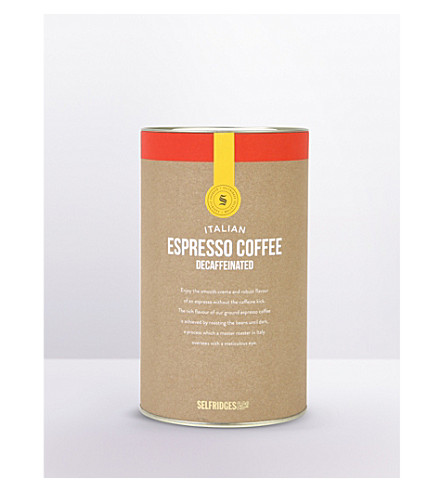 SELFRIDGES SELECTION Italian espresso decaffeinated coffee